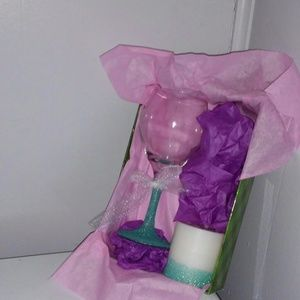 Other - Custom Glass and Candle Gift Set